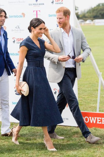 Meghan Markle and Prince Harry Share a Sweet Kiss at the Sentebale Polo Match