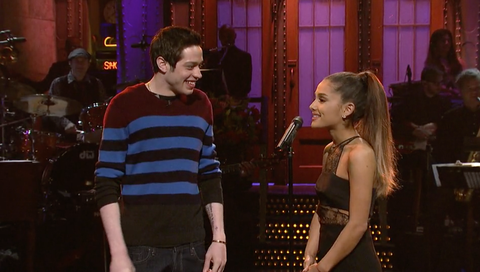 Pete Davidson likes staring at Ariana Grande