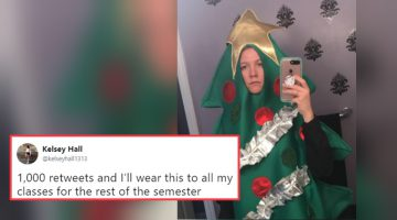 Student Has To Wear a Christmas Tree Costume the Whole School Year